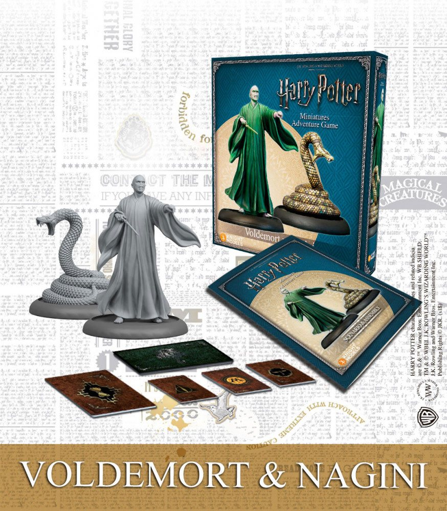 Harry Potter Miniature 35 mm 2-Pack Voldemort & Nagini *English Version*