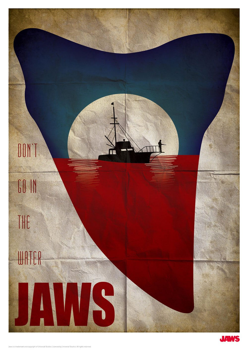 Jaws Art Print Don't go in the Water 42 x 30 cm