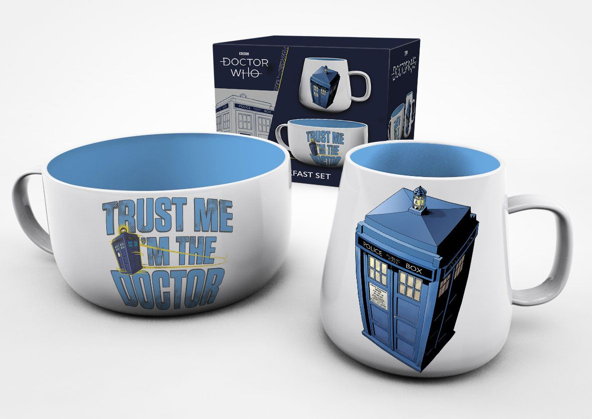 Doctor Who Breakfast Set Tardis