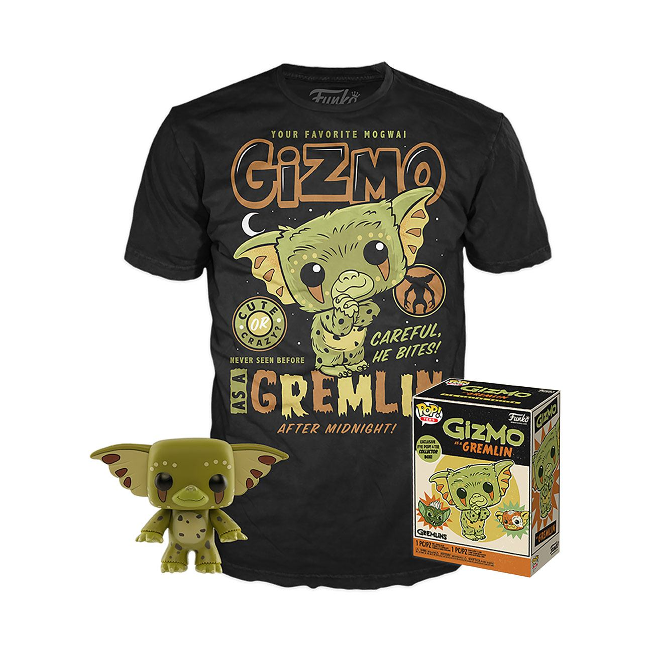 Gremlins POP! & Tee Box Gizmo heo Exclusive Size M