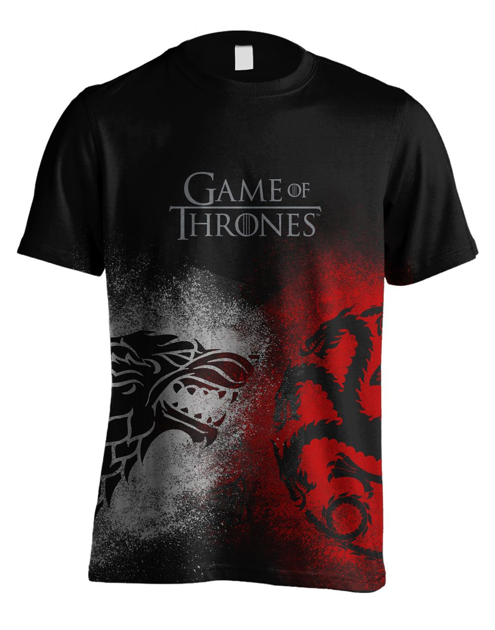 Game of Thrones T-Shirt Sigil Face Off Size M
