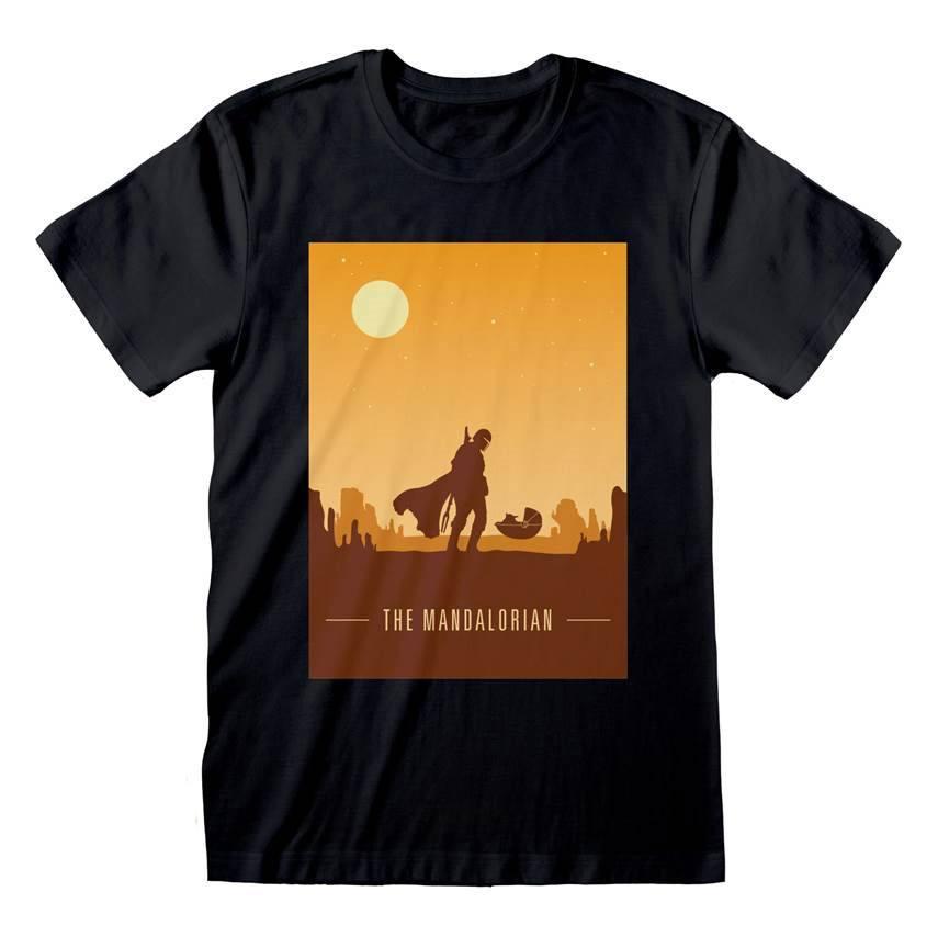 Star Wars The Mandalorian T-Shirt Retro Poster Size L