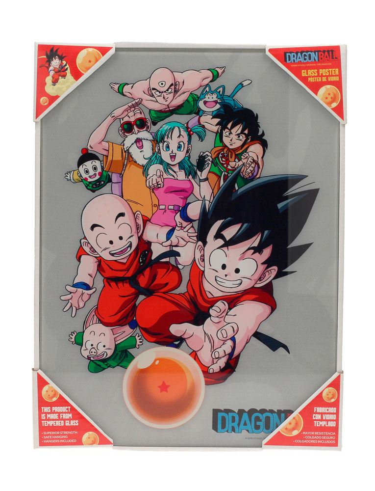 Dragonball Glass Poster Characters 30 x 40 cm