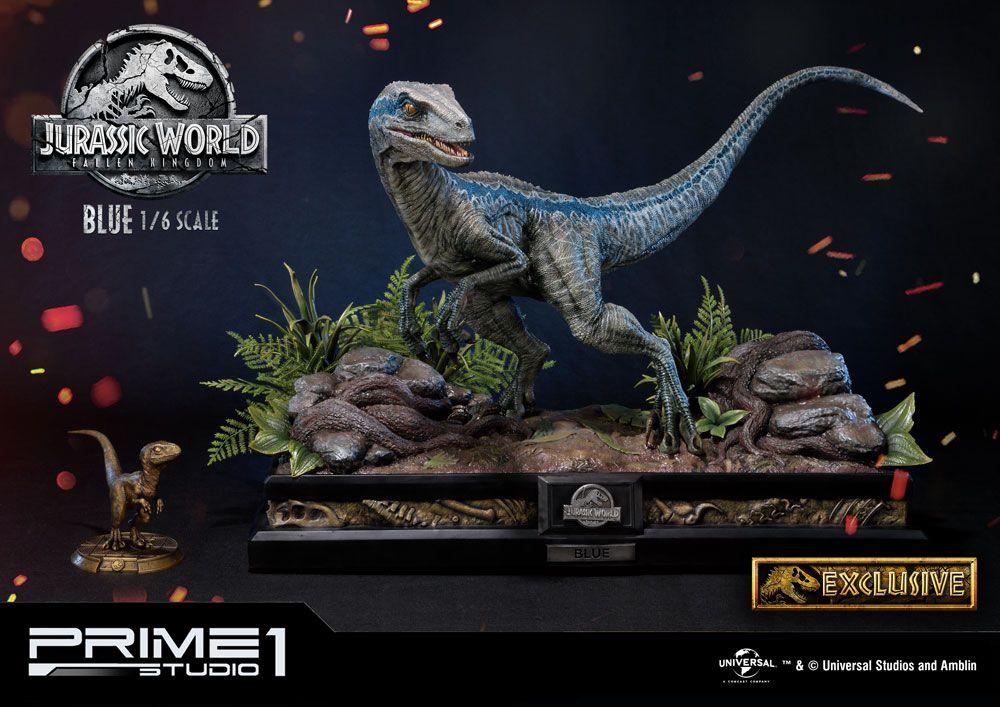 Jurassic World: Fallen Kingdom Statue 1/6 Blue & Blue Exclusive 65 cm Assortment (3)