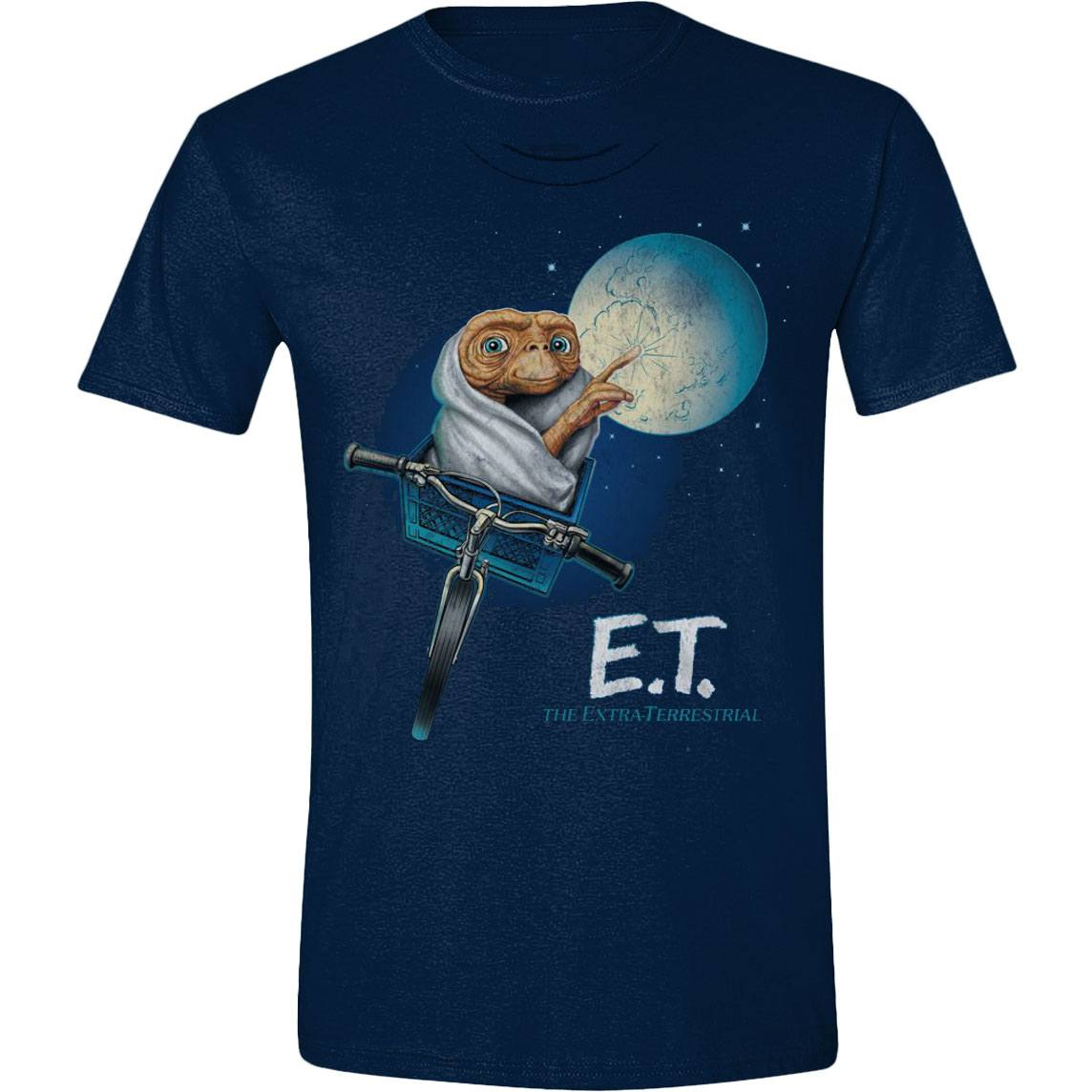 E.T. the Extra-Terrestrial T-Shirt Moon Bicycle Size S