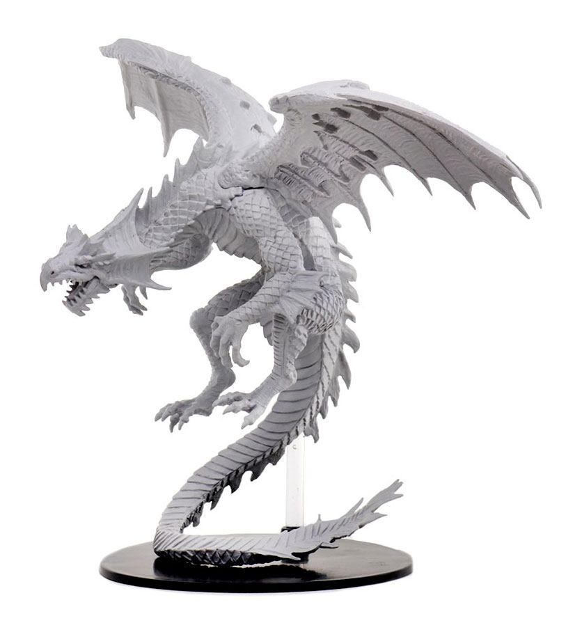 Pathfinder Battles Deep Cuts Unpainted Miniatures Gargantuan White Dragon
