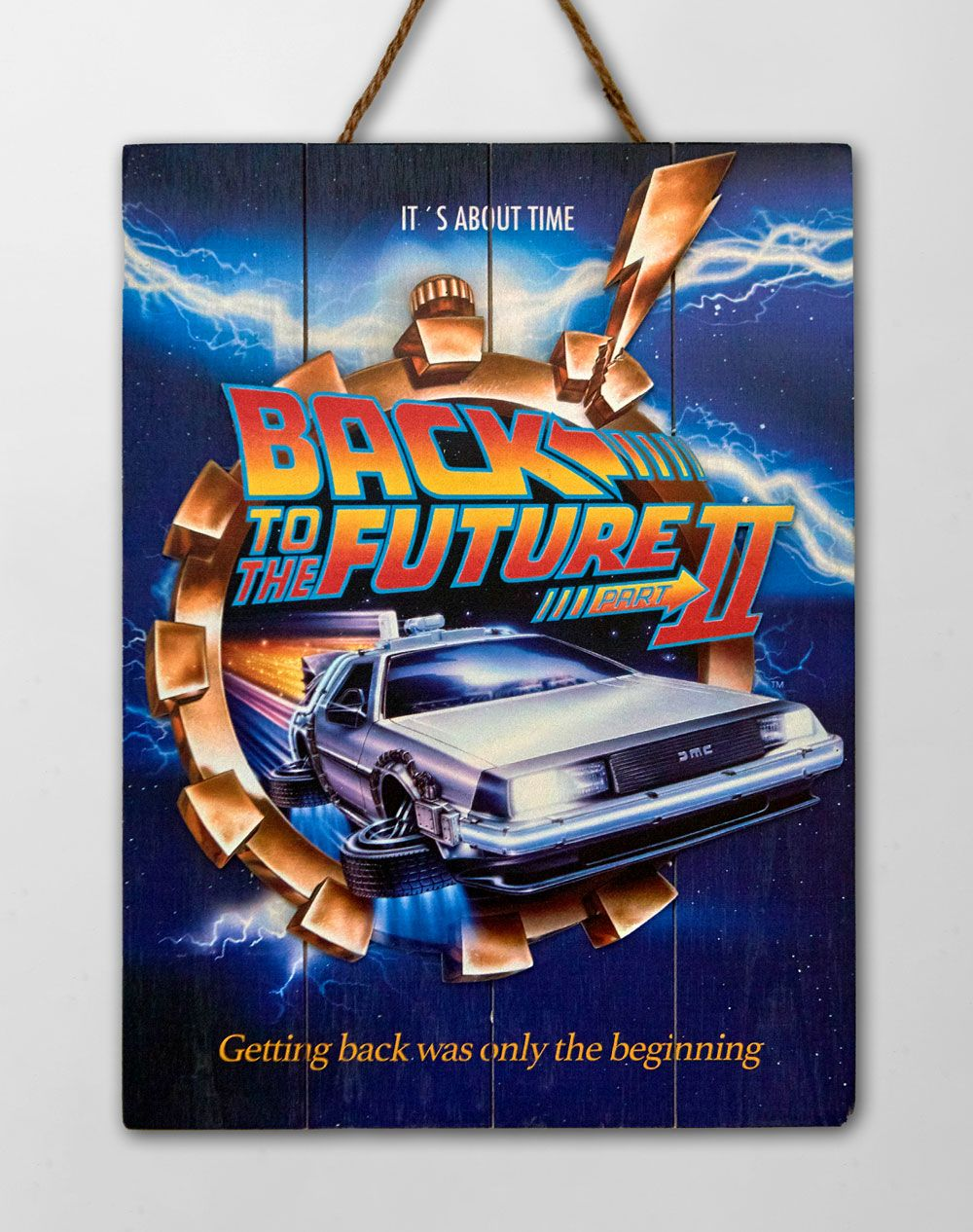 Back to the Future 2 WoodArts 3D Wooden Wall Art It's about time 30 x 40 cm
