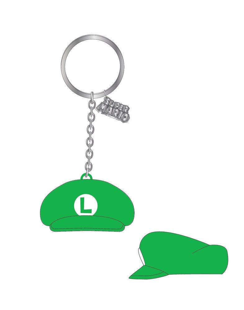 Nintendo Rubber Keychain Luigi Hat 7 cm