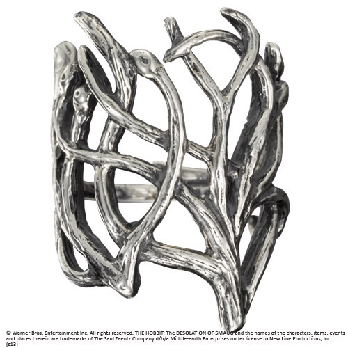 The Hobbit An Unexpected Journey Thranduil Woodland Ring (Sterling Silver) Size 08