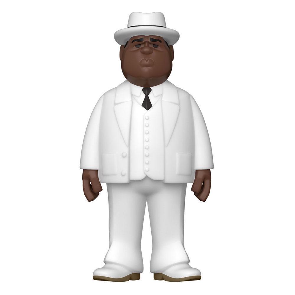 Notorious B.I.G. Vinyl Gold Figure Biggie Smalls White Suit 13 cm