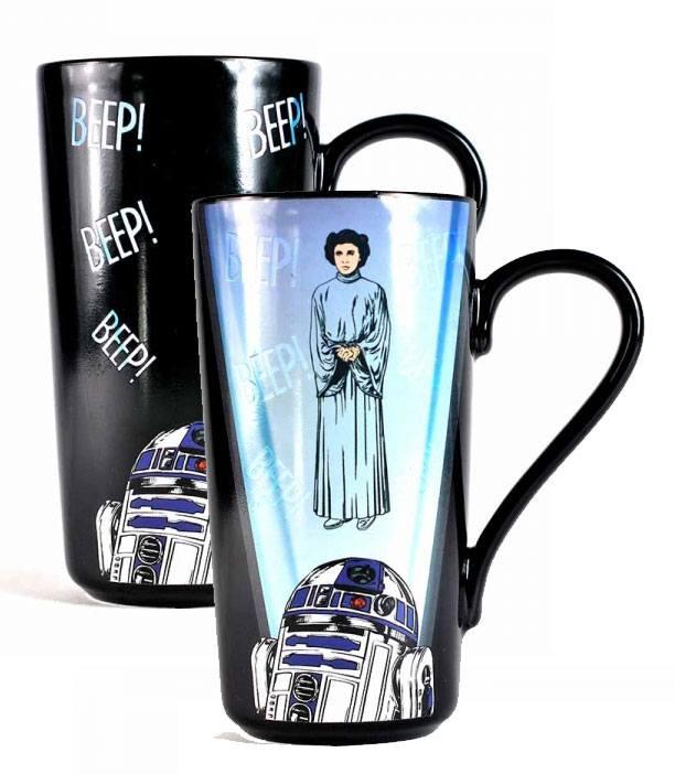 Star Wars Heat Change Latte-Macchiato Mug R2-D2 & Leia