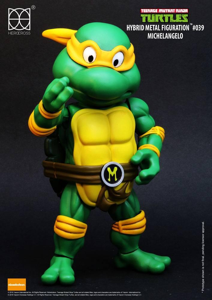 Teenage Mutant Ninja Turtles Hybrid Metal Action Figure Michelangelo 14 cm