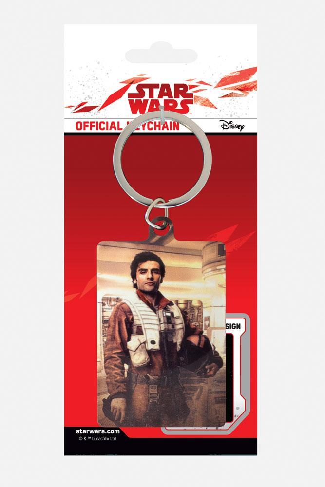 Star Wars Episode VIII Metal Keychain Poe Battle Ready 6 cm