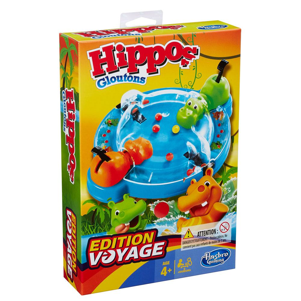 Hasbro Game Hungry Hungry Hippo Grab and Go *French Version*