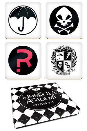 The Umbrella Academy Coaster Set Logos