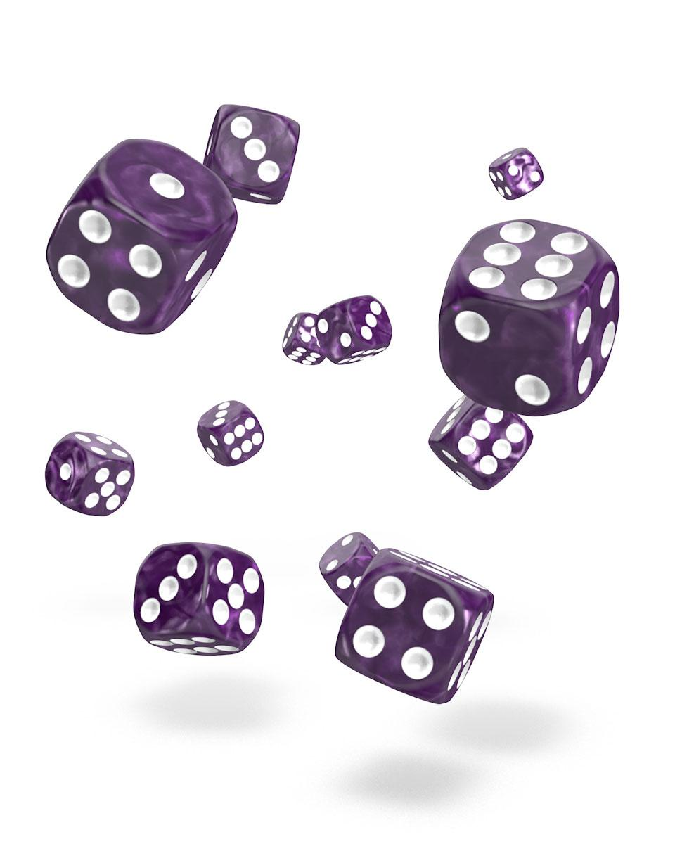 Oakie Doakie Dice D6 Dice 12 mm Marble - Purple (36)