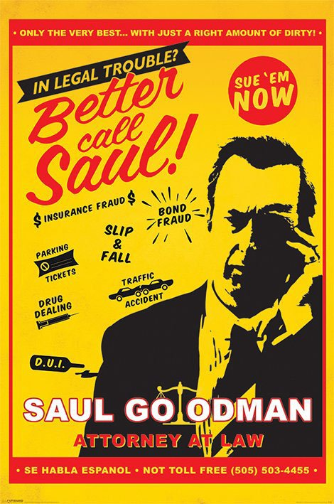 Better Call Saul Poster Pack Attorney At Law 61 x 91 cm (5)