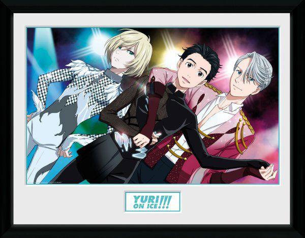 Yuri!!! on Ice Framed Poster Trio 45 x 34 cm