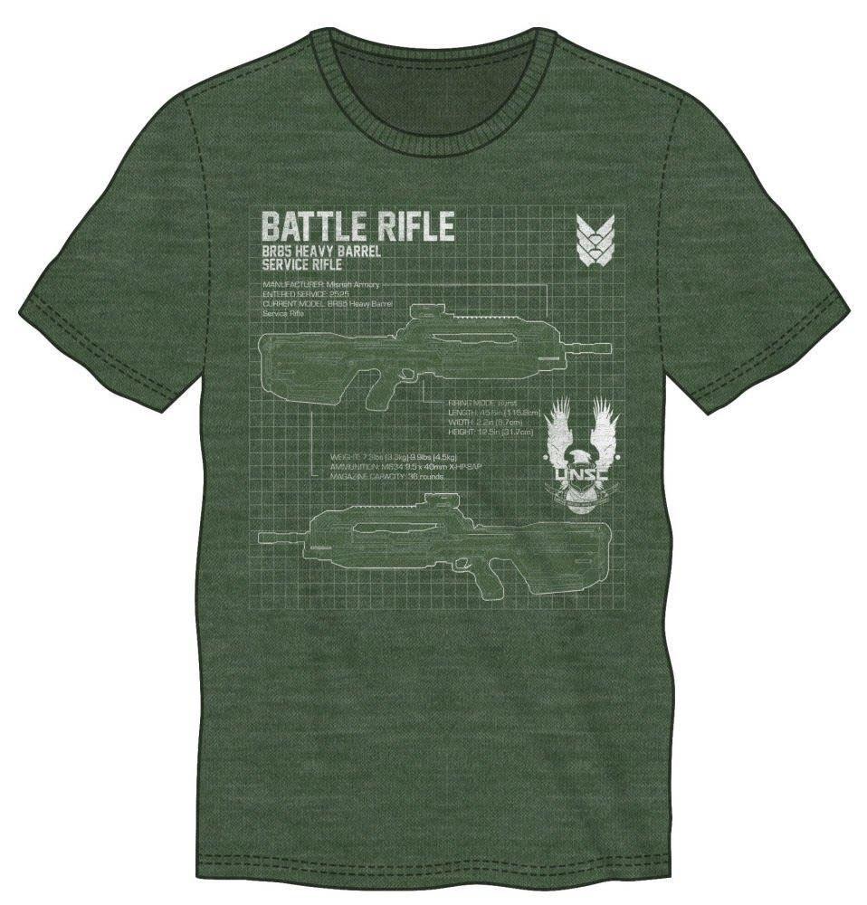 Halo 5 T-Shirt Battle Rifle Size M