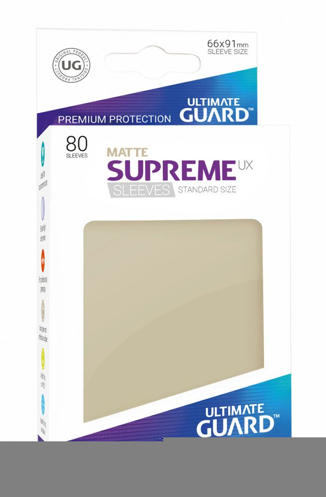 Ultimate Guard Supreme UX Sleeves Standard Size Matte Sand (80)