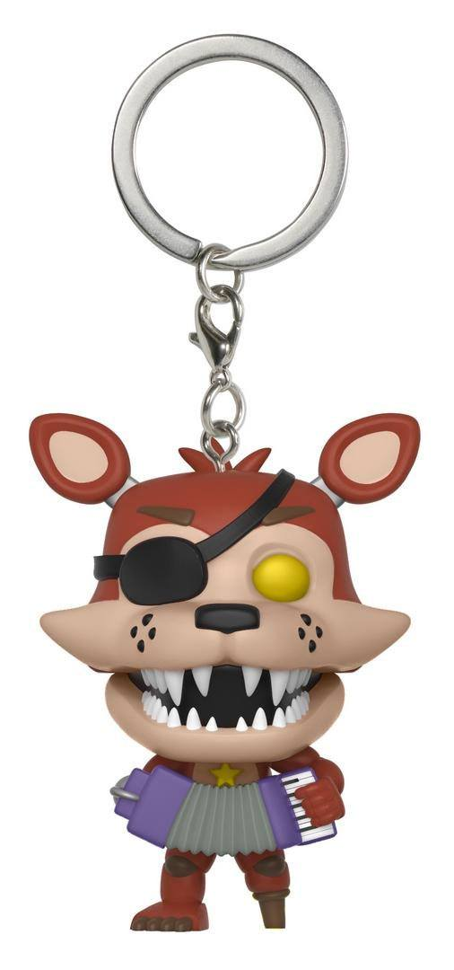 Five Nights at Freddy's Pizzeria Simulator Pocket POP! Vinyl Keychain Rockstar Foxy 4 cm