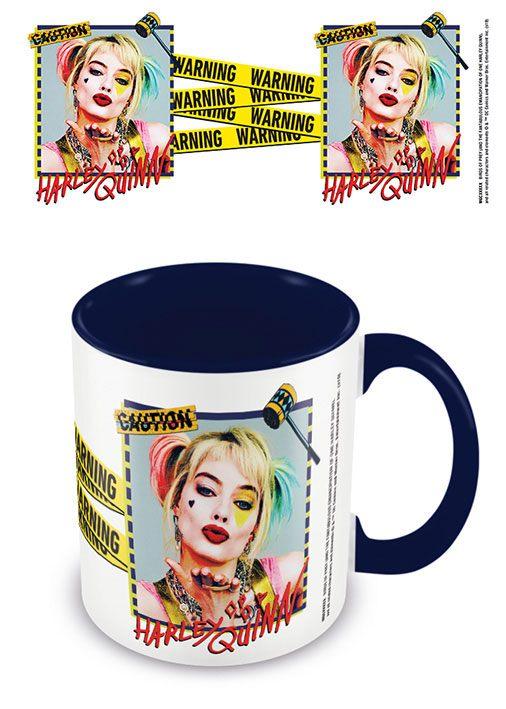 Birds Of Prey Coloured Inner Mug Harley Quinn Warning