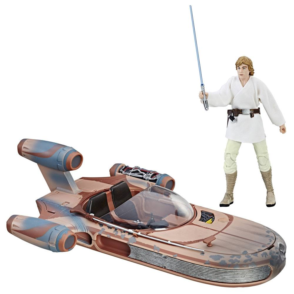 Star Wars Black Series 6-inch Vehicle 2017 Luke Skywalker's X-34 Landspeeder --- DAMAGED PACKAGING