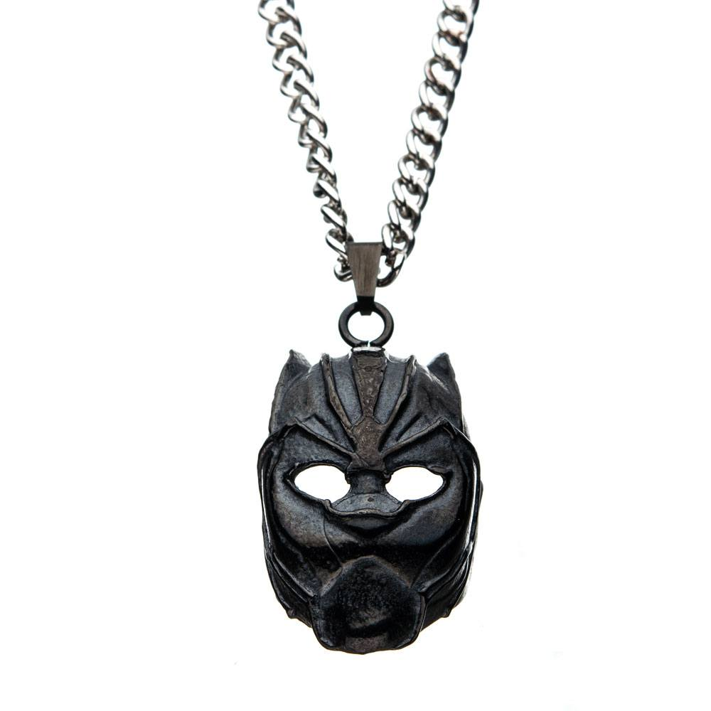 Black Panther Stainless Steel Pendant with Chain 3D Mask
