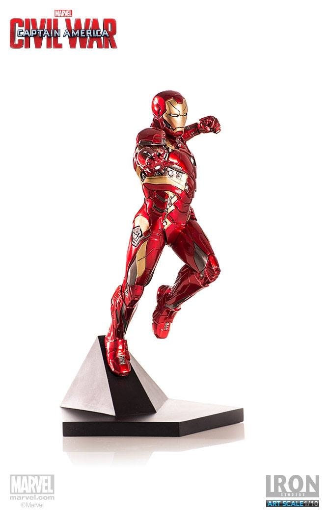 Captain America Civil War Statue 1/10 Iron Man Mark XLVI 23 cm
