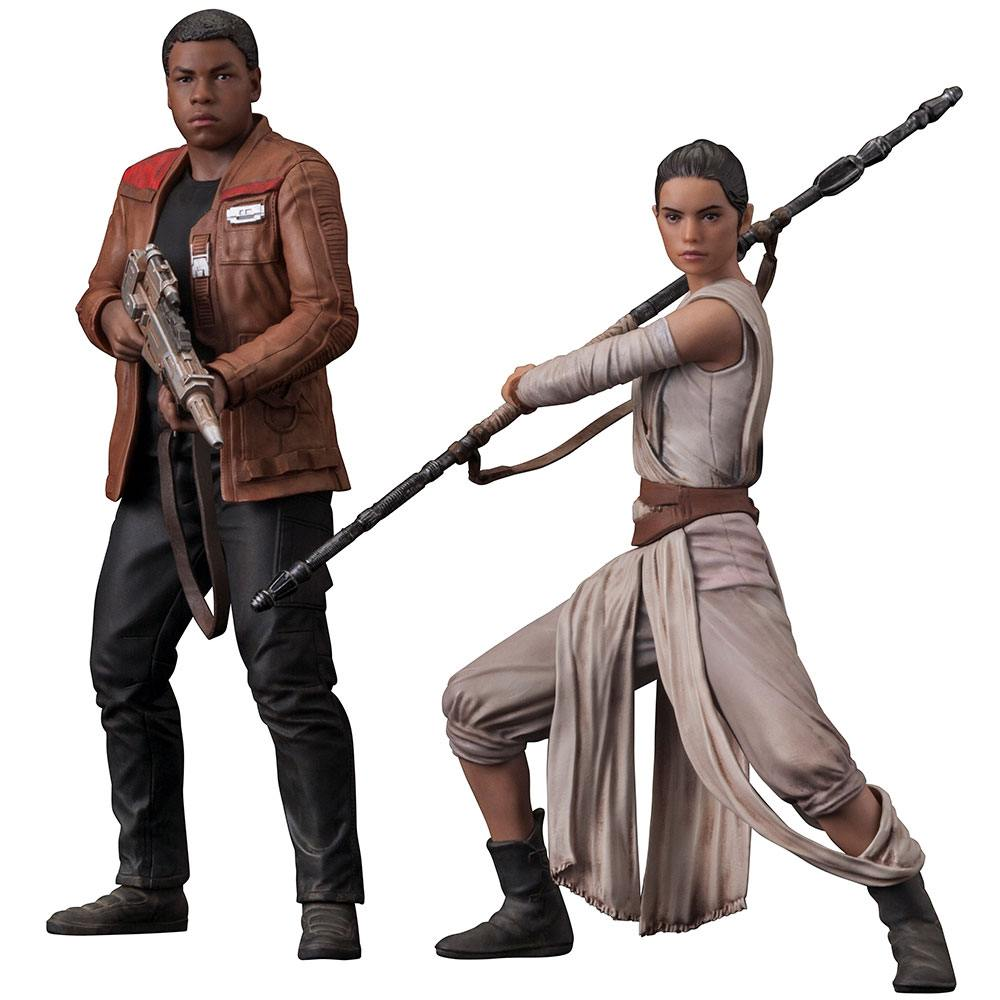 Star Wars Episode VII ARTFX+ Statue 2-Pack Rey & Finn 15 - 18 cm --- DAMAGED PACKAGING