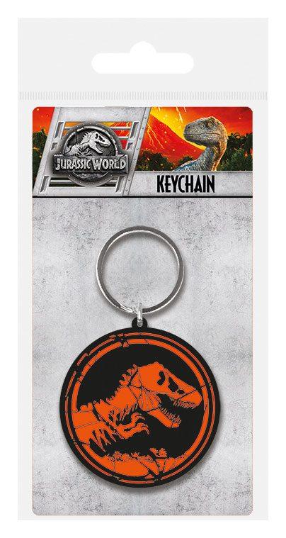 Jurassic World Rubber Keychain Logo 6 cm