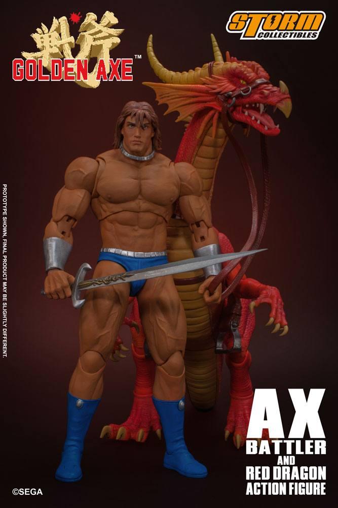 Golden Axe Action Figure 1/12 Ax Battler & Red Dragon 18 cm