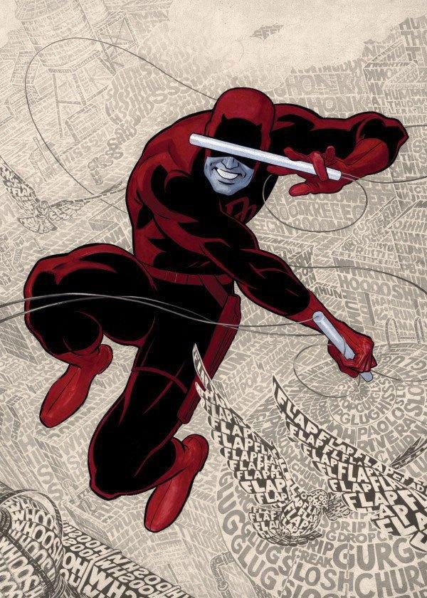 Marvel Comics Metal Poster The Devil of Hells Kitchen Text Art Daredevil 10 x 14 cm