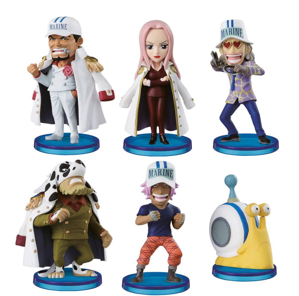 One Piece WCF ChiBi Figures 4 cm Assortment Navy Army (25)