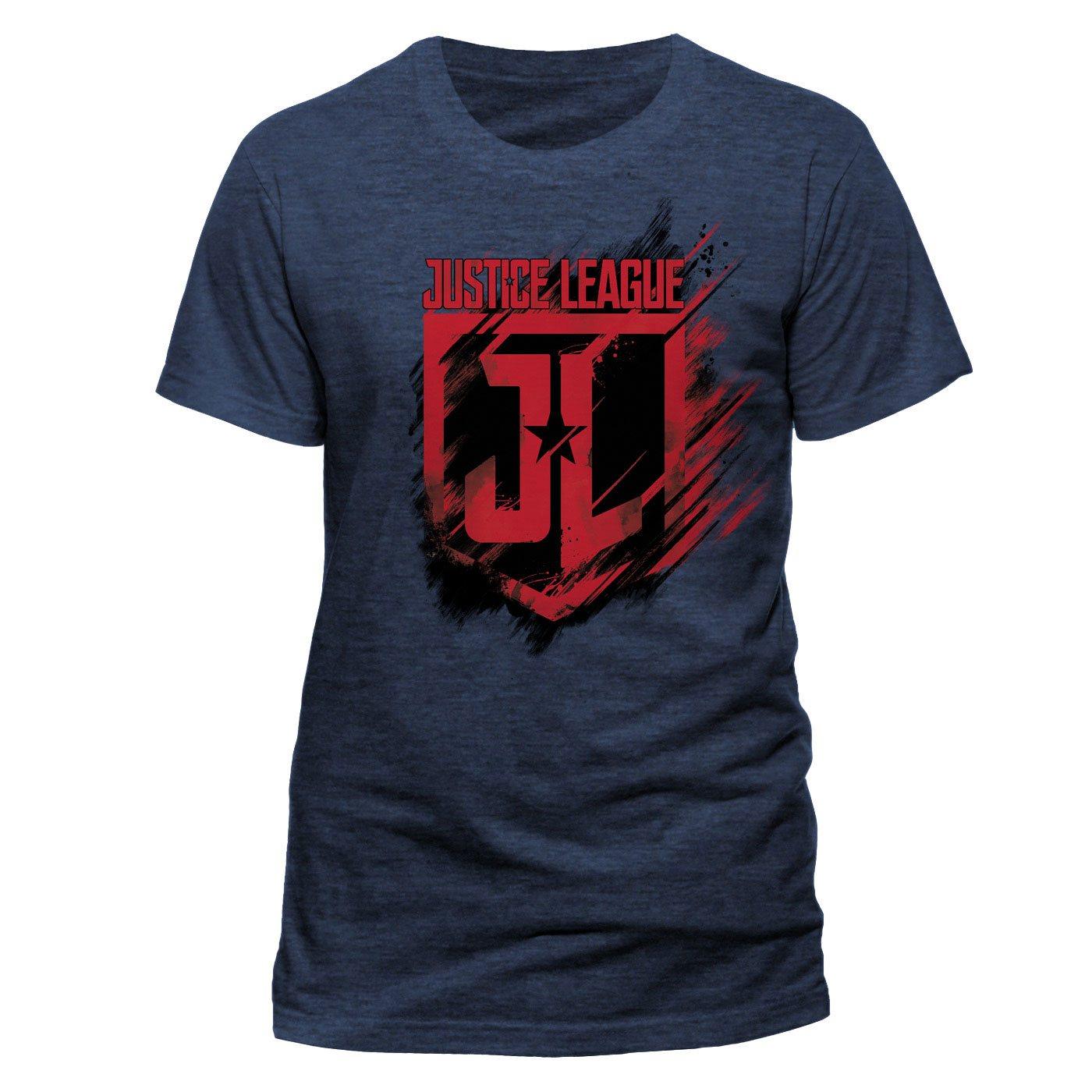 Justice League Movie T-Shirt Shield Size XL