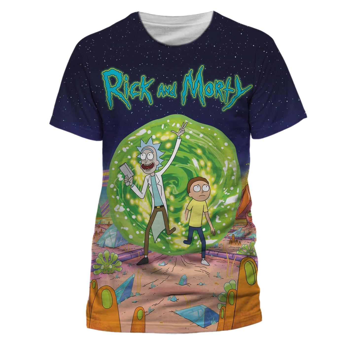 Rick & Morty T-Shirt Jumbo Portal Size L
