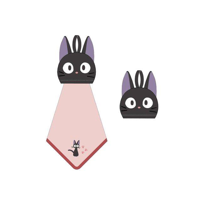 Kiki's Delivery Service Pop-Up Mini Towel Jiji 25 x 25 cm