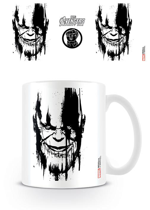 Avengers Infinity War Mug Thanos Stencil Drip