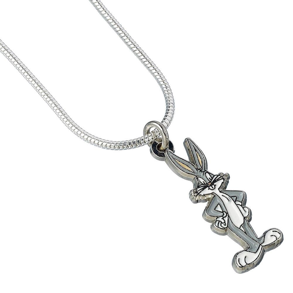 Looney Tunes Pendant & Necklace Bugs Bunny (silver plated)