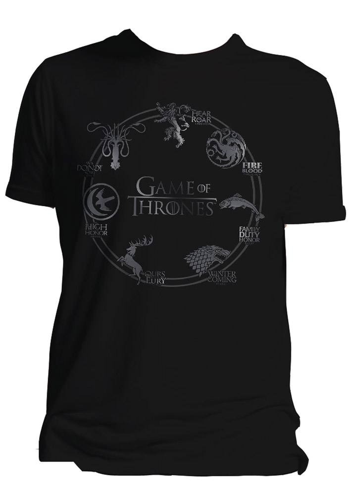 Game of Thrones T-Shirt Houses Size XL