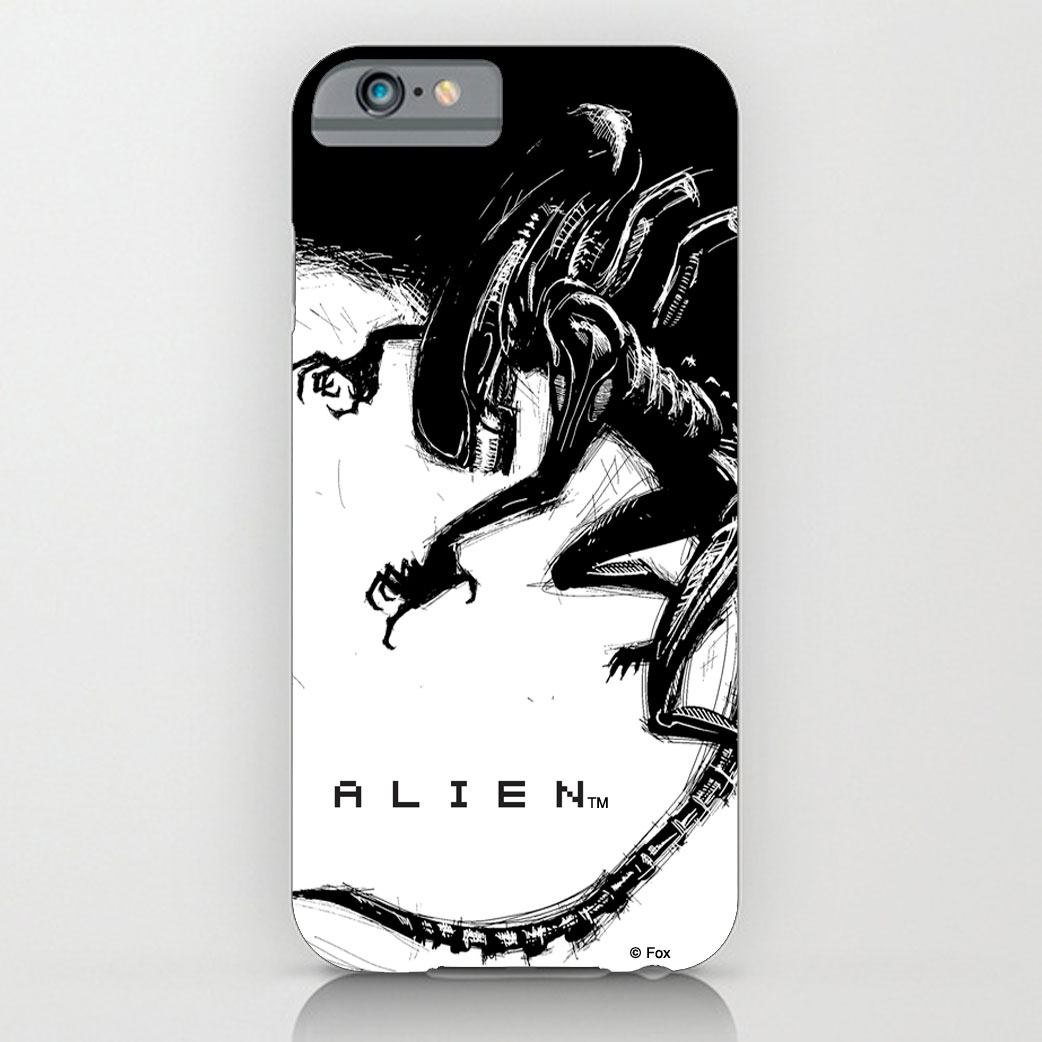 Alien iPhone 4 Case Xenomorph Black & White Comic