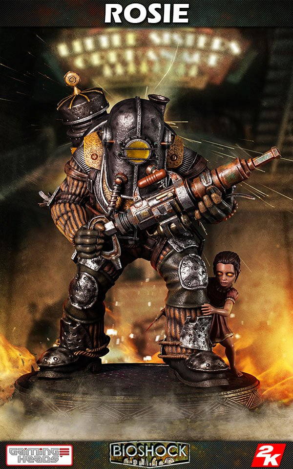 BioShock Infinite Statue 1/4 Big Daddy - Rosie 53 cm