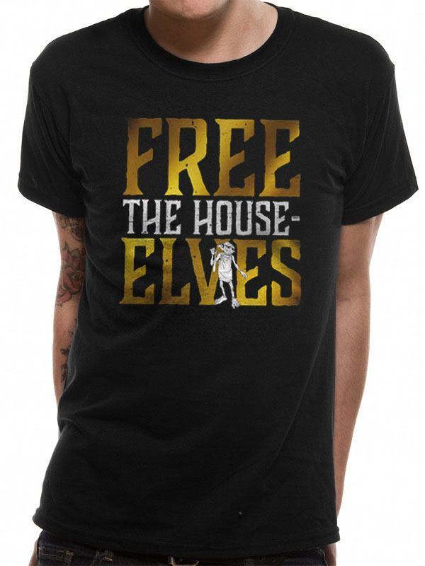 Harry Potter T-Shirt Free The House Elves Size L