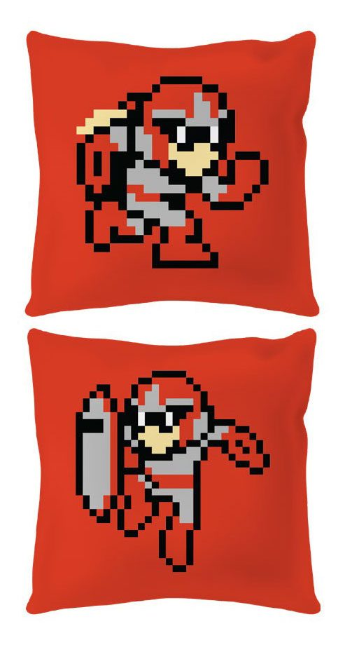 Mega Man Pillow 8-Bit Protoman 40 cm