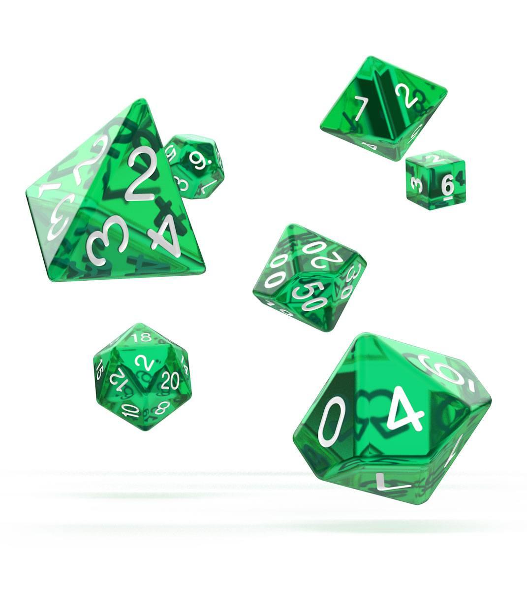 Oakie Doakie Dice RPG Set Translucent - Green (7)