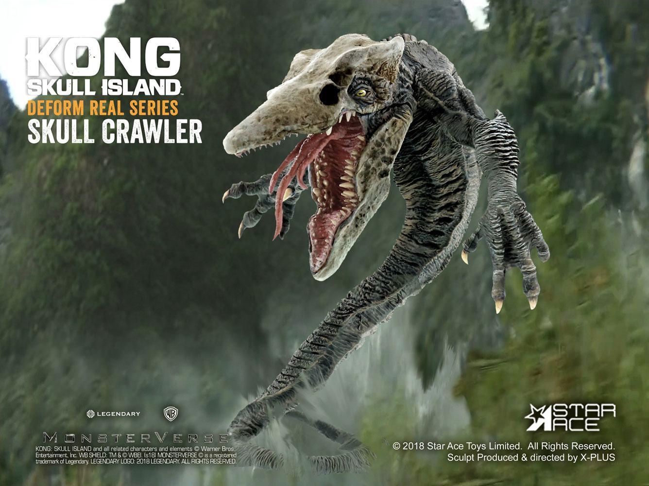 Kong Skull Island Deform Real Series Soft Vinyl Statue Skull Crawler 16 cm