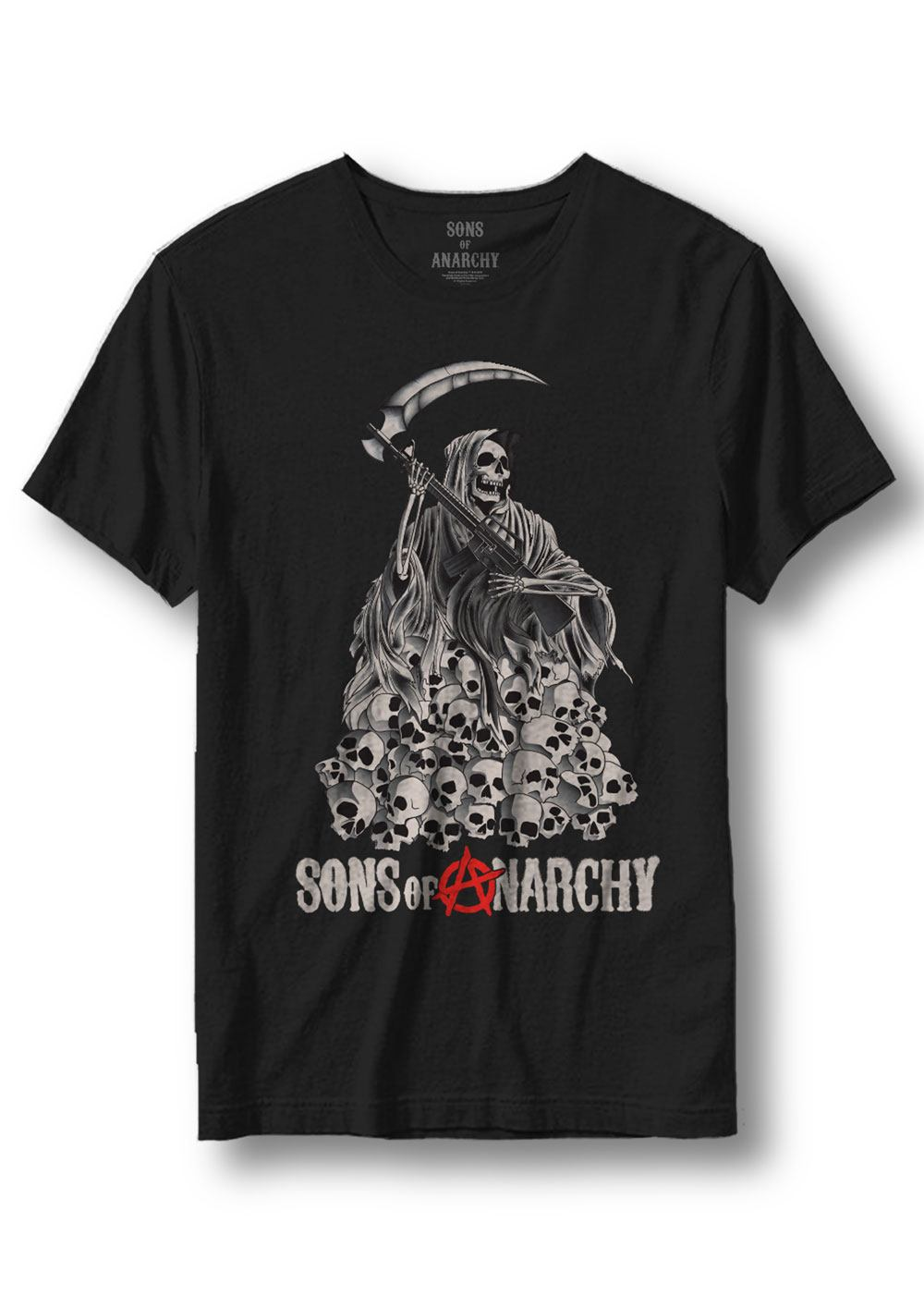 Sons of Anarchy T-Shirt Skull Reaper Size L