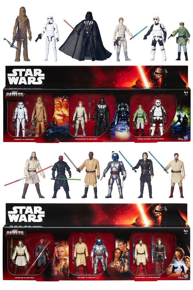 Star Wars Battle Packs Action Figures 10 cm 6-Packs Epic Battles 2015 Exclusive Assortment (6) --- DAMAGED PACKAGING