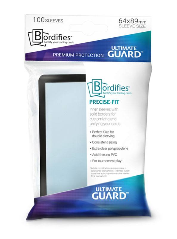 Ultimate Guard Bordifies™ Precise-Fit Sleeves Standard Size Black (100)