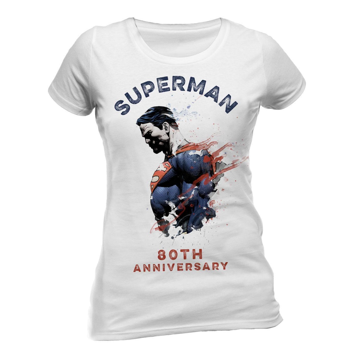 Superman Ladies T-Shirt 80th Anniversary Size L